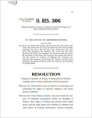 U.S. Congress, House Resolution 306