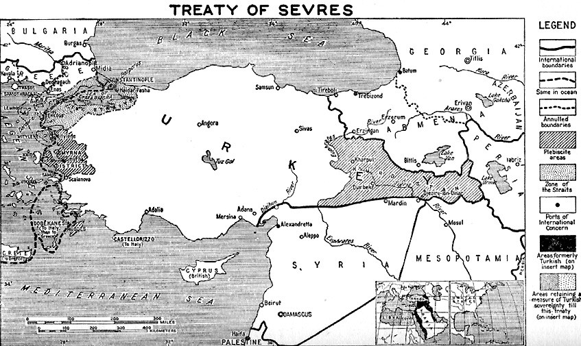The Treaty Of Sèvres - Greece in the treaty of sevres