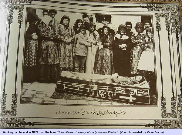 """An Assyrian funeral in 1869 from the book """"Iran, Persia: Treasury of Early Iranian Photos"""". (Photo forwarded by Pavel Varda)"""