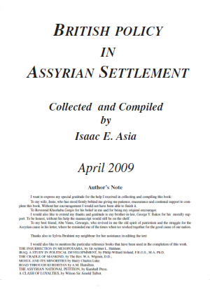 British Policy in Assyrian Settlement by Isaac E. Asia