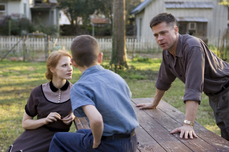 Jessica Chastain and Brad Pitt in The Tree of Life, which won the Palme d'Or at Cannes this year.