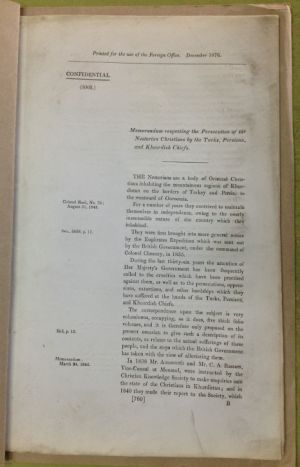 1896-1919: The Public Record Office in Britain - Assyrians