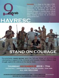 Havresc: Stand on Courage, New York, December 8, 2016.