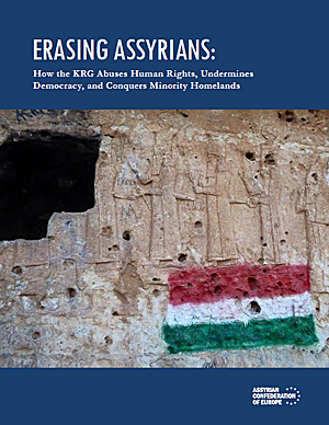 Erasing Assyrians: How the KRG Abuses Human Rights, Undermines Democracy, and Conquers Minority Homelands by Reine Hanna and Matthew Barber.  Special thanks to Max J. Joseph and Mardean Isaac for their assistance and contributions during the research for and composition of this report. Assyrian Confederation of Europe, September 25, 2017.