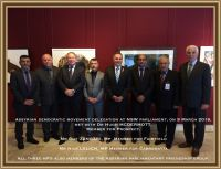 Assyrian Democratic Movement - ADM, Zowaa - visit NSW Parliament in Sydney, Australia, March 09, 2016.