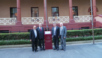Assyrian delegation at The New South Wales, Parliament House, Sydney, Australia, June 18, 2014.