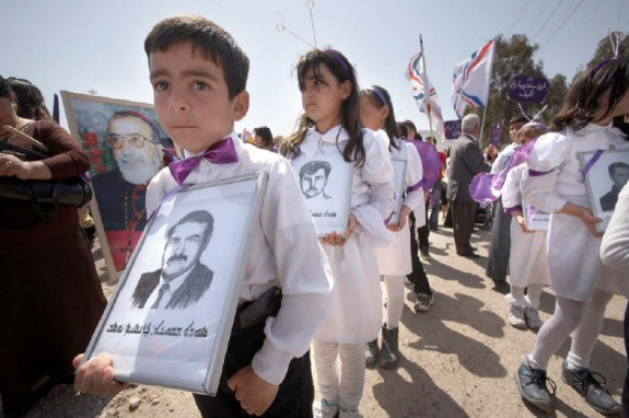 Assyrian children mourning the deaths of martyrs.