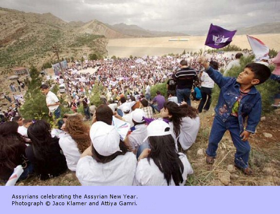 Assyrians celebrating the Assyrian New Year.