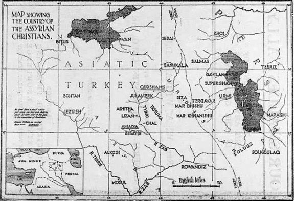 Our Smallest Ally: A Brief Account of the Assyrian Nation during the Great War (map) by Dr. W. A. Wigram (William Ainger Wigram), 1872-1953.
