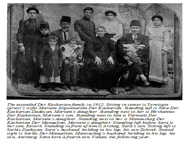 The Der Kasbarian Family in 1912.