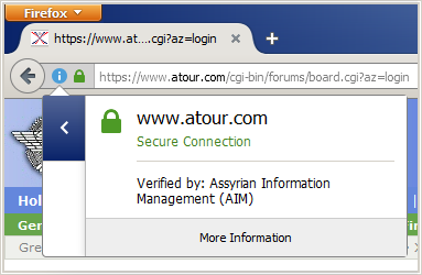 Secure SSL login within the Assyrian Forums at atour.com.