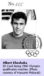 Albert Khoshaba: 1968 Olympics ID Card