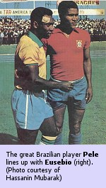 Pele (left) and Eusebio