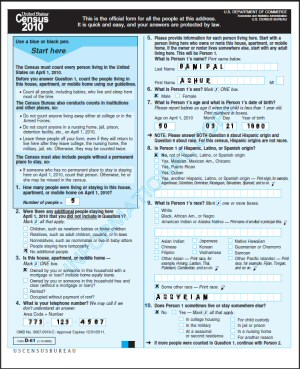 2010 U.S. Census Bureau Form:  How-To-Instructions for Assyrians