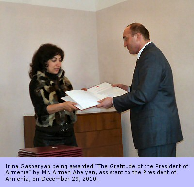 President of Armenia awards an Assyrian activist