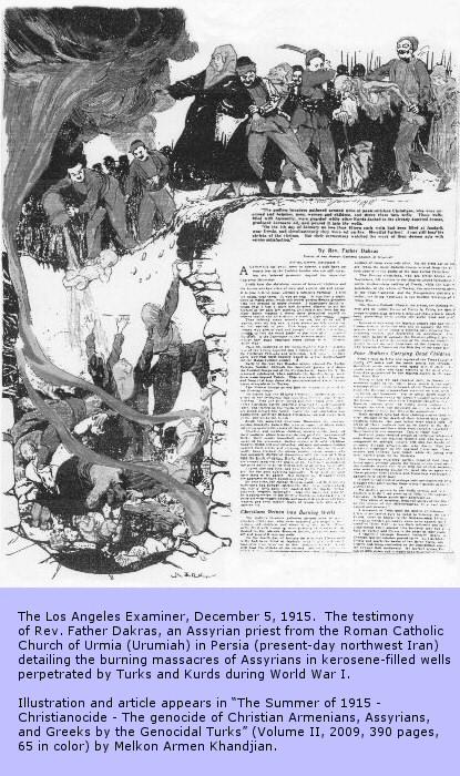 1915: Rev. Father Dakras' Eyewitness Account of Burning Massacres