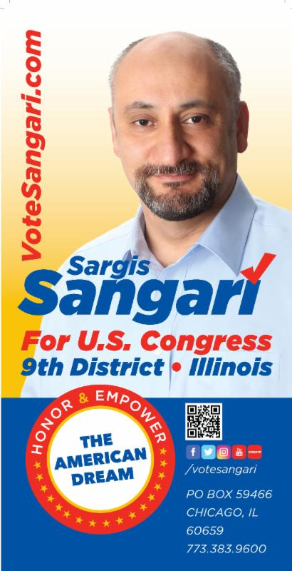 Sargis Sangari - Candidate for the 9th Congressional District of Illinois