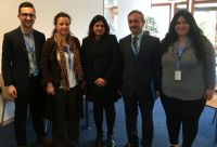 Participants meet with Suki Nagra, lead author of the UN report detailing war crimes and crimes against humanity   against Assyrians in Iraq by the so-called Islamic State.