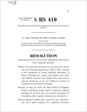 Ut Law School >> Armenian National Committee Letter to Senator Markey ...