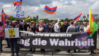 Armenians, Assyrians and Greek activists in Berlin Germany, June 15, 2016.