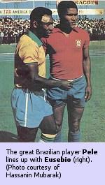 Pele (left) and Eusebio