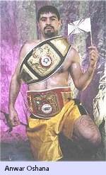 Anwar Oshana: IBF Regional Super Middleweight Champion